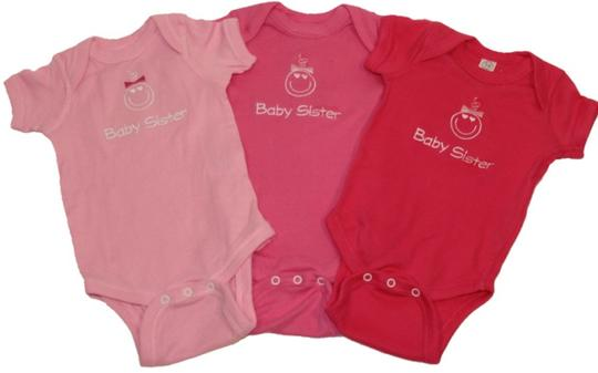 Embroidered Baby Sister Onesie