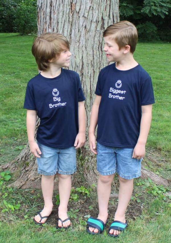 Big/Biggest Brother Embroidered T-shirts