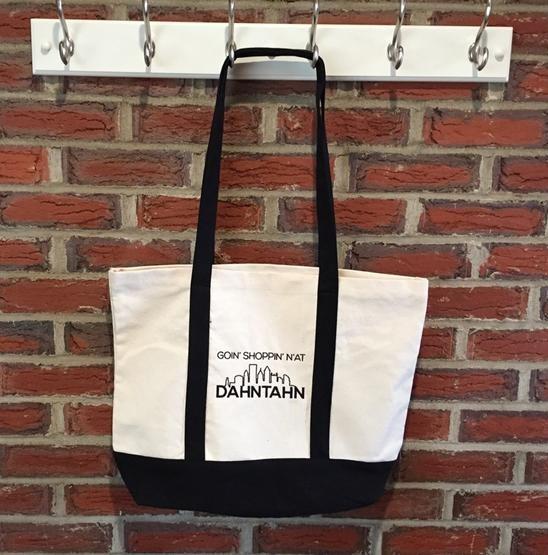 Pittsburghese Goin' Shoppin' N'at Dahntahn Canvas Tote Bag
