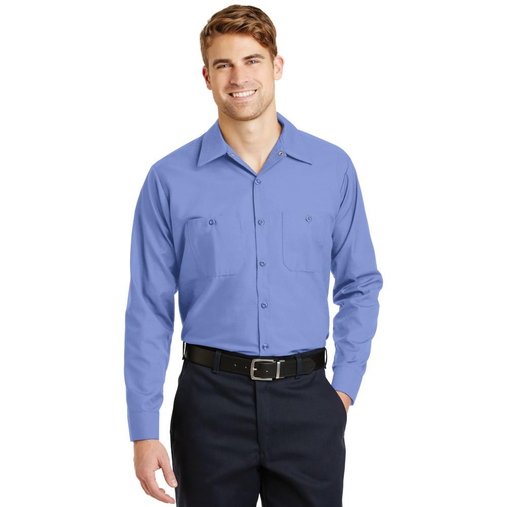 Red Kap TALL Size, Long Sleeve Industrial Work Shirt