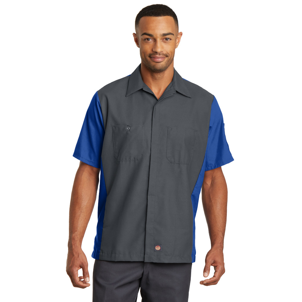 Red Kap Short Sleeve Ripstop Crew Shirt